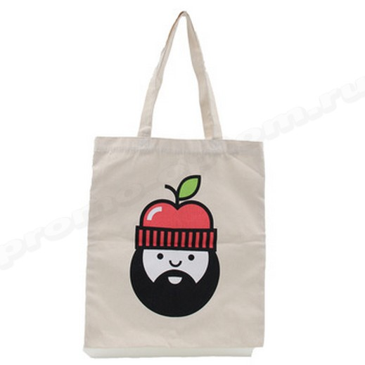 сумка из бязи с принтом, логотипом, рисунком