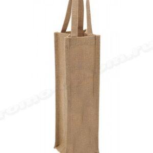 сумка из джута для бутылок