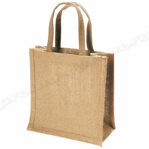сумка из ламинированного джута 30х40х10