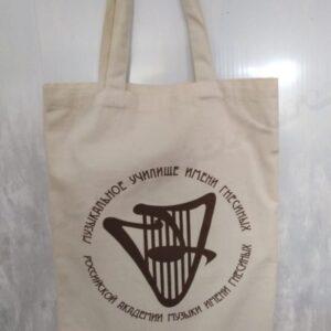 сумка с принтом из суровой бязи