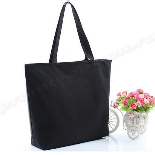 сумка черная из полиэстера 40х40