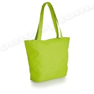 сумка зеленая из полиэстера 30х40