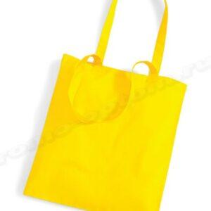 сумка желтая из полиэстера