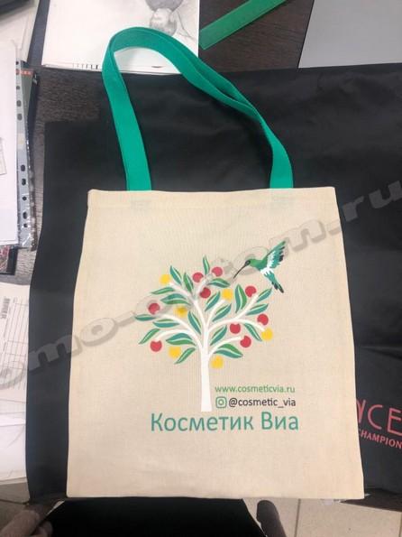 сумка из двунитки с принтом