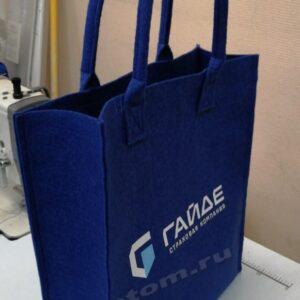 сумка из фетра с нанесением